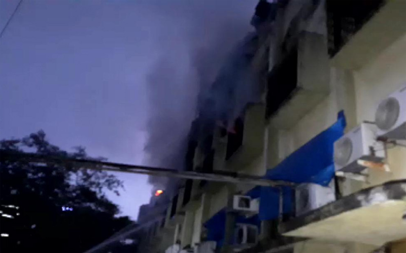 A fire in the Kama Industrial Estate in Gurgaon, the fierce fire of the 12 Fire Fighter incident