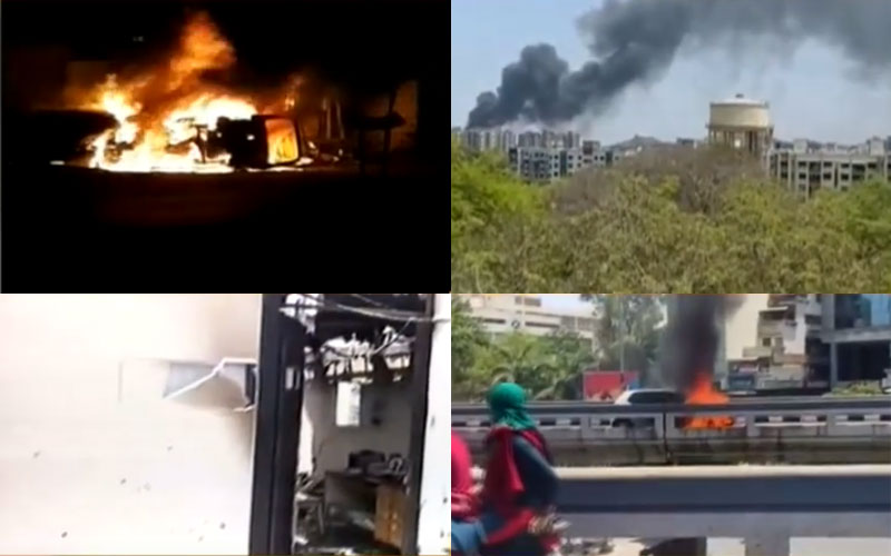 Ahmedabad hospital Daman Surat Vadodara car fire