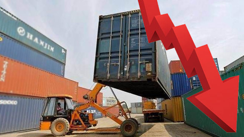 India's exports fall over 6 pct in August month, imports drop much more