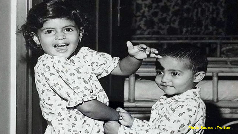 Amitabh Bachchan shares an adorable pic of Abhishek Bachchan and Shweta Bachchan