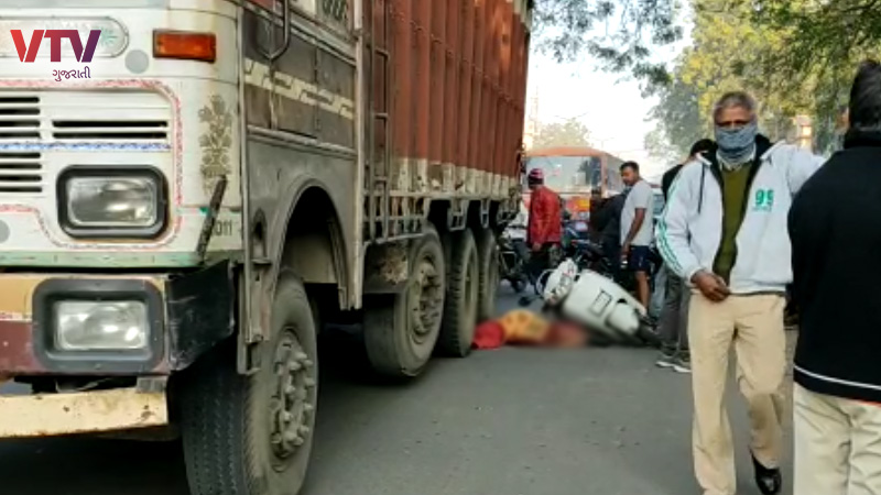 1 woman death accident in panchmanl