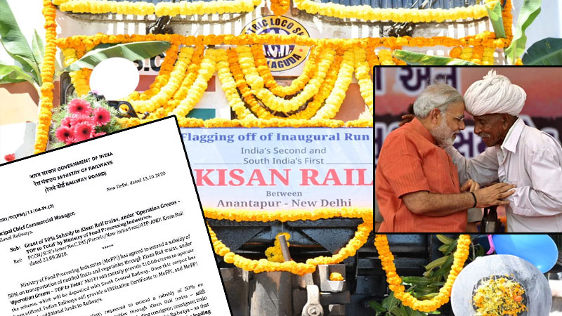 kisan rail Operation Green - TOP to Total atmanirbhar package