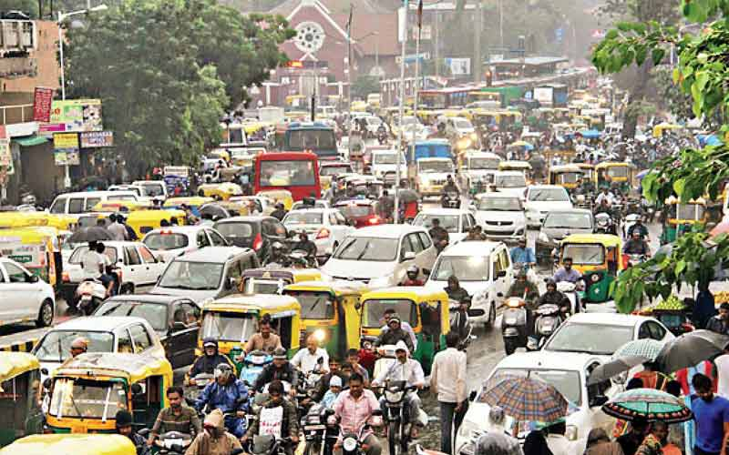 The problem of the number of vehicles in Ahmedabad