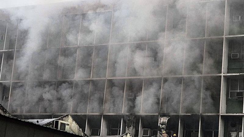 aiims fire teaching block dont have fire noc delhi fire officials