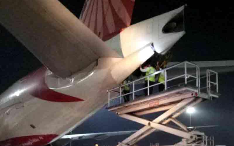 Air India flight to San Francisco catches fire at Delhi airport