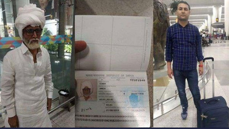 Man Impersonates 81 Year Old To Go To the US Busted At Delhi Airport send Ahmedabad