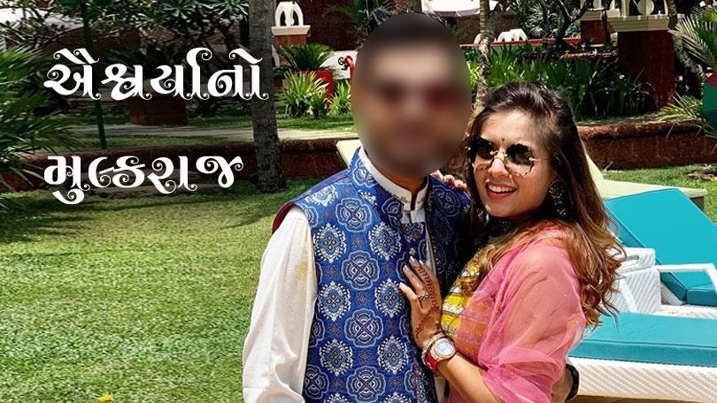 gujarati garba singer aishwarya majmudar shares an image with young man