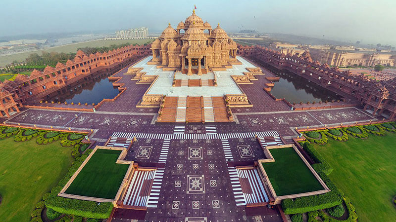 akshardham temple opens today for general public closed since 24th march due to-coronavirus lockdown