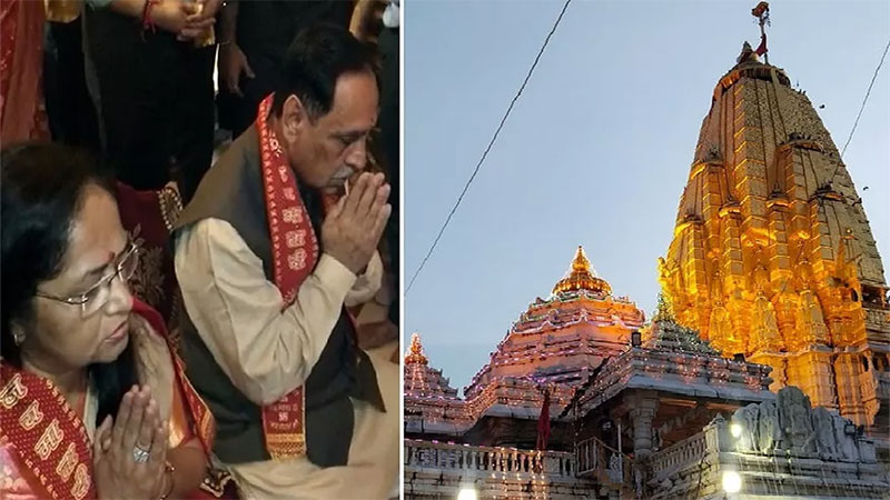 gujarat from today the bhadaravi poonam fair started in ambaji cm rupani inaugurates it