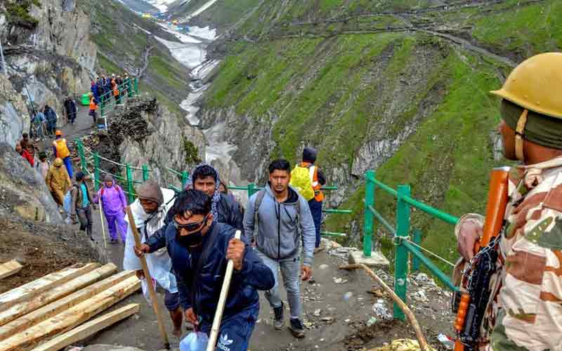 Amarnath Yatra route IS Wolf Attack