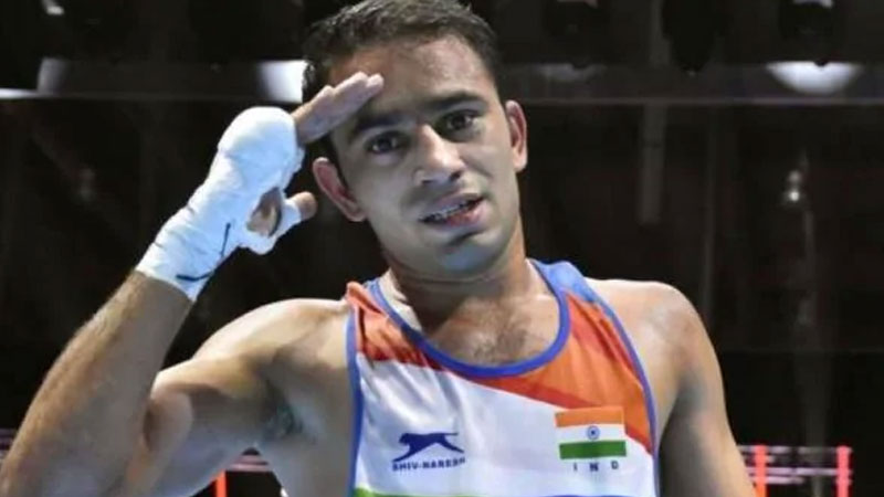 world boxing championship indian boxer amit panghal