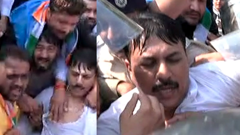 Congress Protest Gujarat Government for  Bin sachivalay exam and women rape case