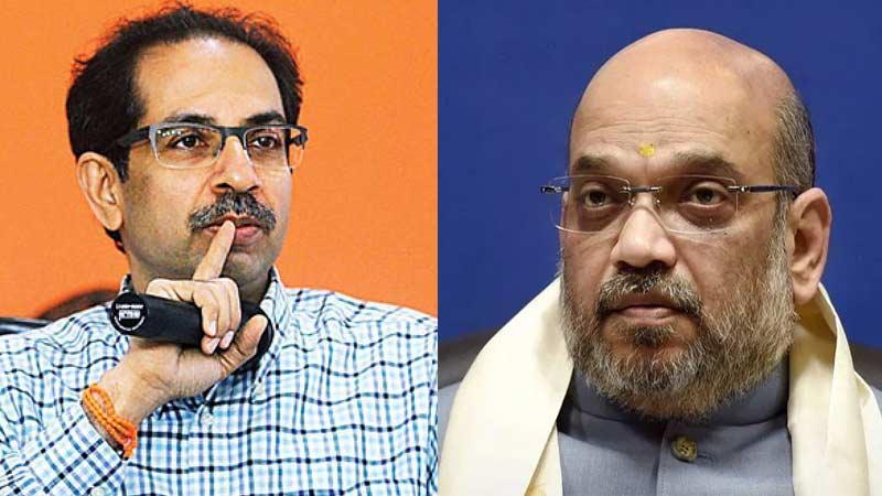 Amit Shah talks with Uddhav Thackeray may visit Mumbai