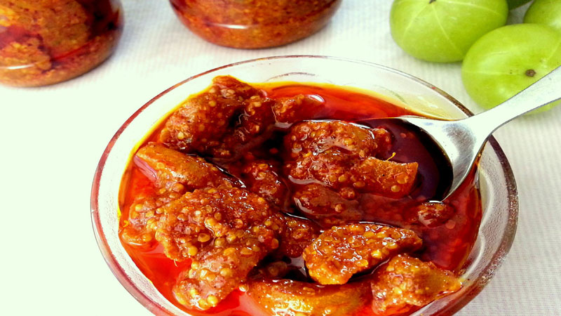 How to make instant amla achar and store for one month