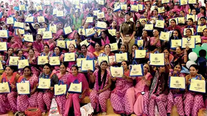 Anganwadi force women attend to training pregnant woman miss her child before birth