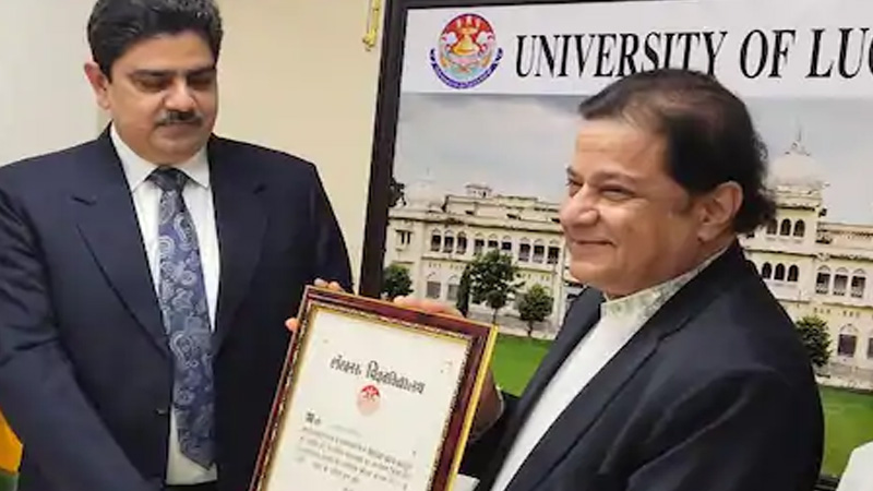 bollywood anup jalota received ba degree from lucknow university after 46 years
