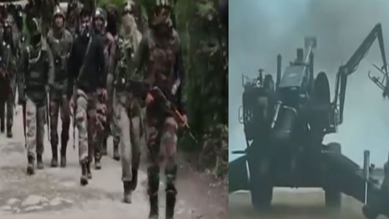 Indian Army Attacks on POK Terrorist within minutes for ceasefire violations