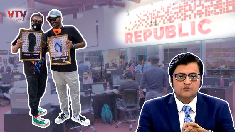 Anurag Kashyap and Kunal Kamra denied entry in republic tv studio duo went to gift chappal award of journalism