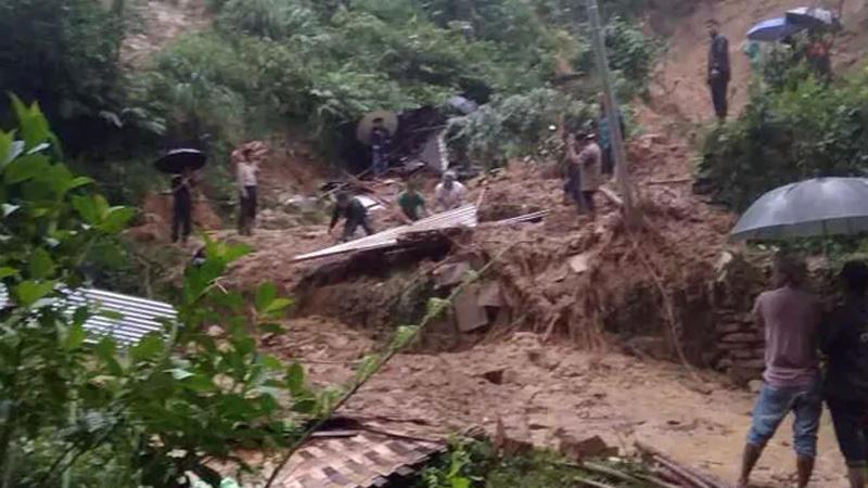 20 dead in several incidents of landslides in assam