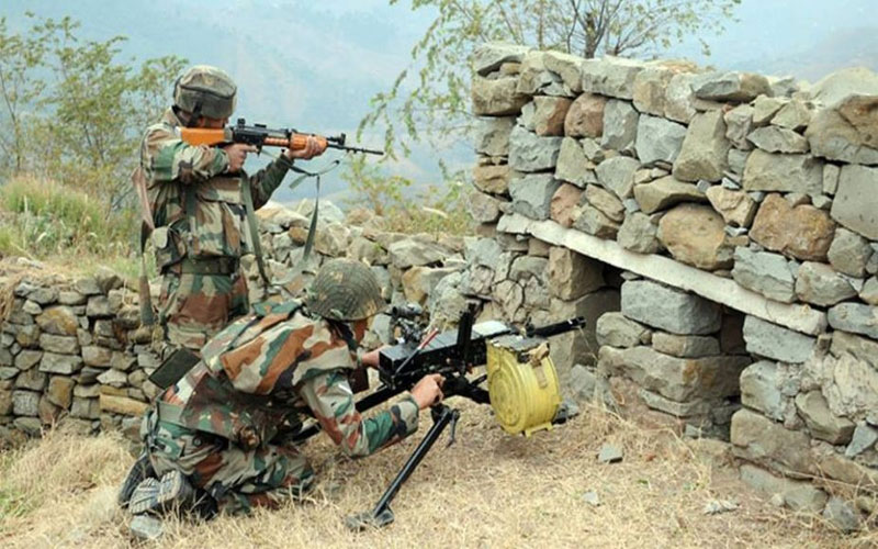 Heavy shelling in shahpur sector poonch jammu kashmir by Pakistan
