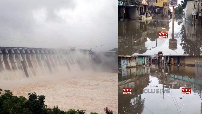 bharuch narmada river rises above danger mark