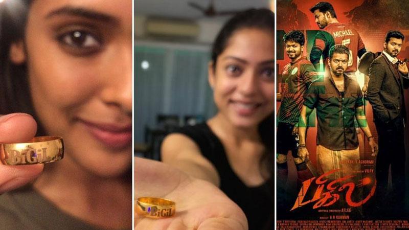 bigil actor vijay thalapathi gifts gold ring to 400 team member