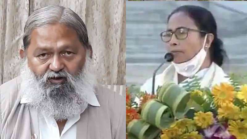 BJP MP anil vij statement on mamata banerjee shree ram chanting