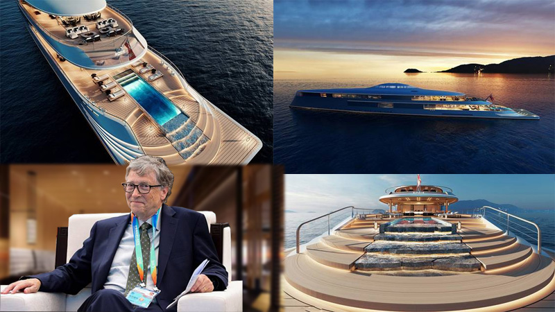 Bill Gates purchases super yacht aqua worth 4600 crore rupees can travel 6437 km in one trip