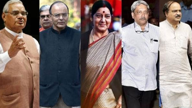 five big leaders in last one year arun jaitley manohar parrikar sushma swaraj atal bihari vajpayee
