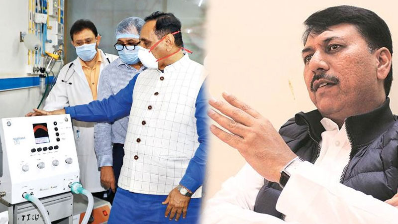 dhaman 1 ventilator congress bjp gujarat govt coronavirus