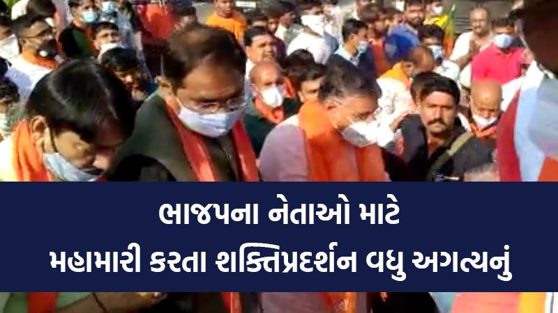 BJP leader break covid guideline video viral