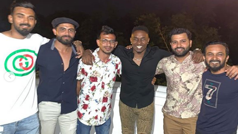 cricket team india cricketers rohit sharma shikhar dhawan and kl rahul among others were hosted for a dinner by brian lara