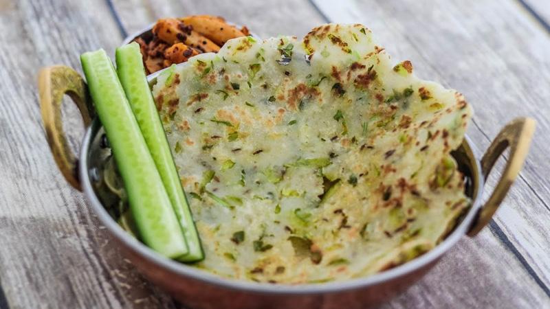 healthy breakfast cucumber roti recipe