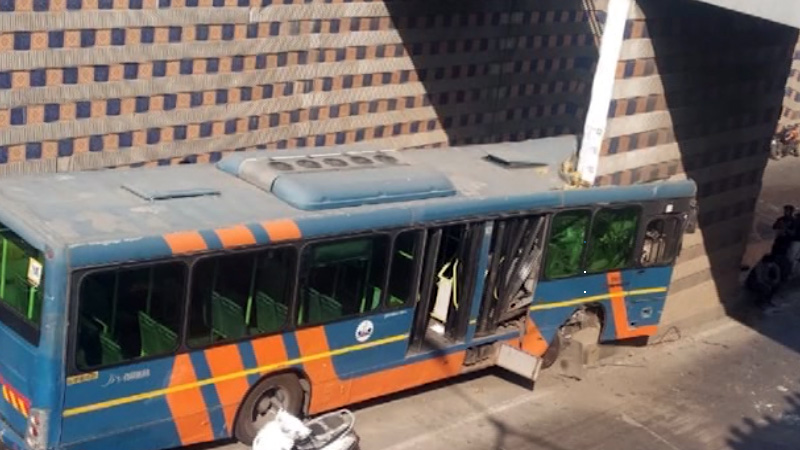 BRTS Bus Accident in akhbarnagar
