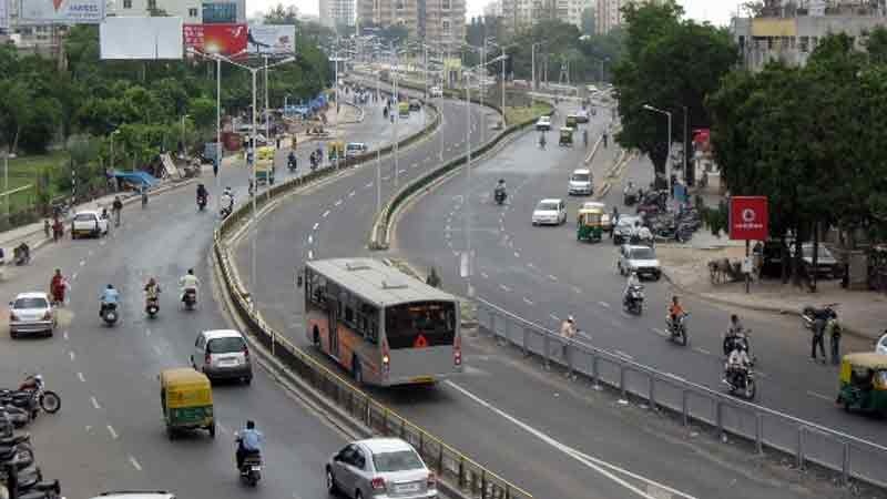 brts corridor ahmedabad Accident Home Minister of the State Pradipsinh Jadeja