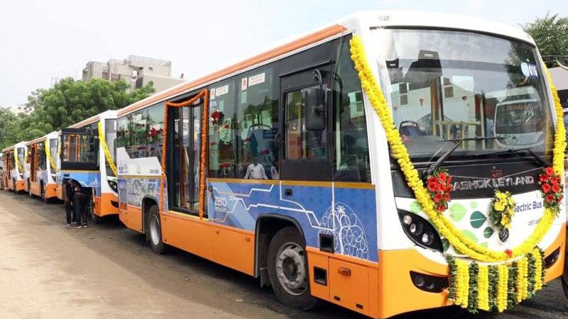 Ahmedabad to gandhinagar electric bus
