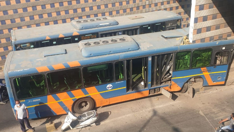 Akhbarnagar BRTS Bus Accident action ahmedabad