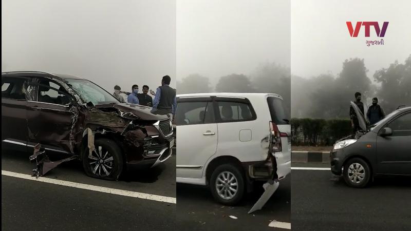 Ahmedabad vadodara express highway 20 to 25 car accident