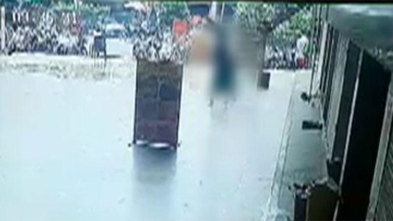 Surat sucide caught in cctv at Varachha Area