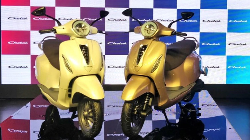 bajaj chetak electric scooter launch booking price features