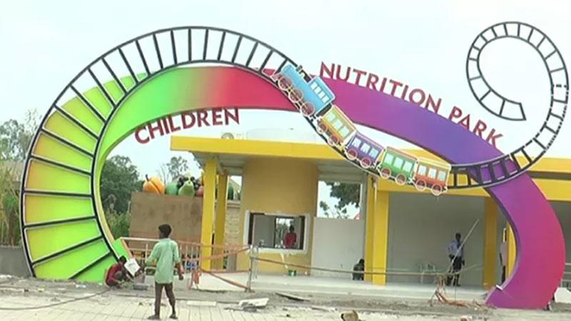 children nutrition park at narmada