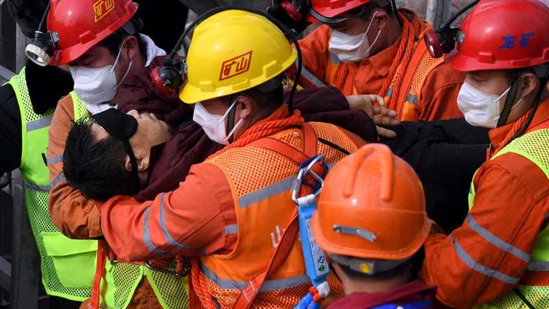 Rescue worker in china