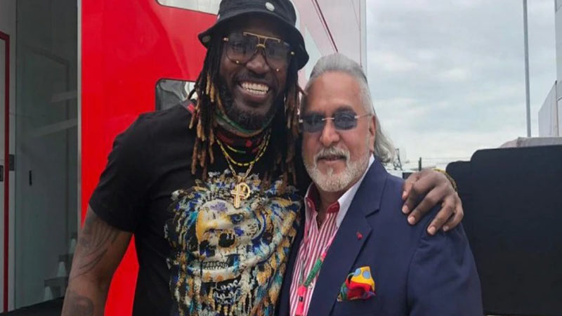 Chris Gayle posts photo with Vijay Mallya, fans say: Courier him to India
