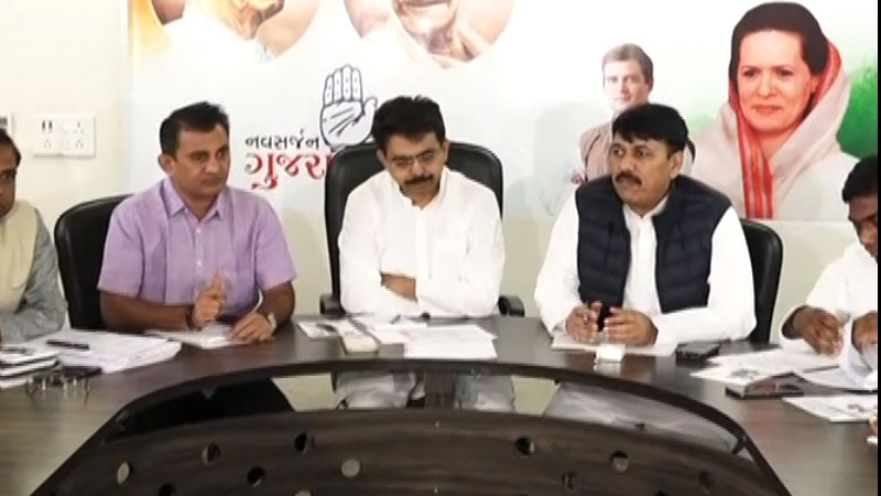 Congress contenders panel 6 seats by election gujarat