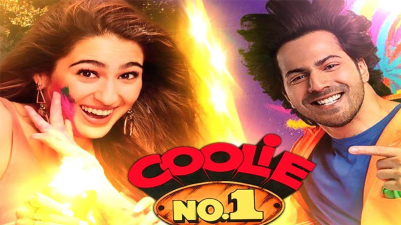 first look of sara ali khan and varun dhawan in coolie no 1