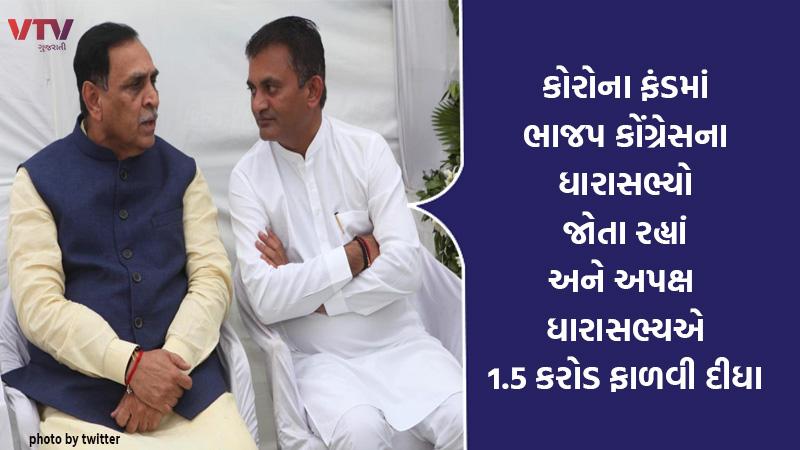 coronavirus in Gujarat MLA grant for relief fund jignesh mevani 1 5 crores
