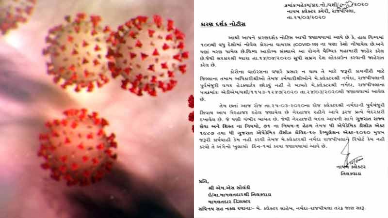 coronavirus narmada district collector headquarter notice