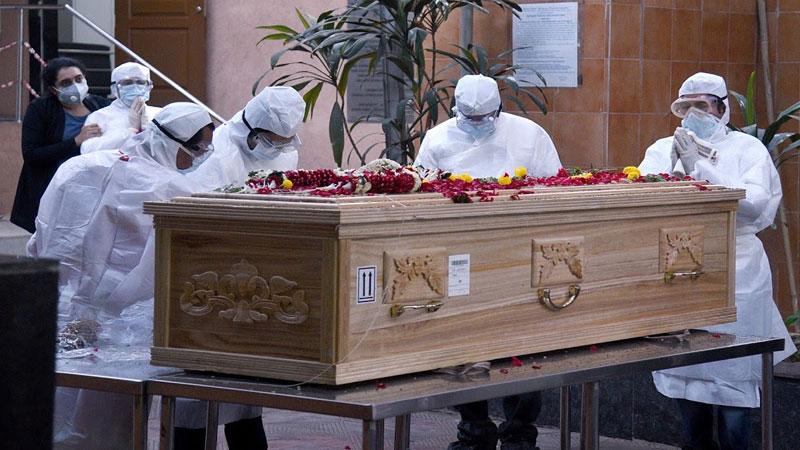 coronavirus victim burial mother siblings watch online