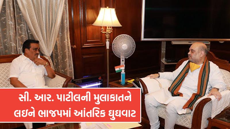 Gujarat bjp president cr patil in new delhi