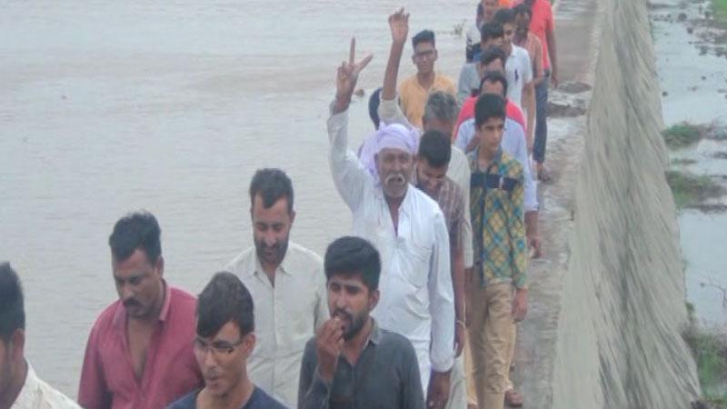 Amiyana Lake flooded jam kalyanpur dwarka